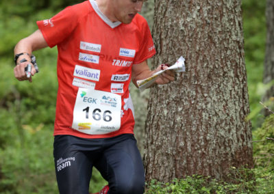 Florian Schneider (SUI, 5th) - Middle Distance Men at the EGK Orienteering World Cup Final 2017 in Grindelwald / Switzerland