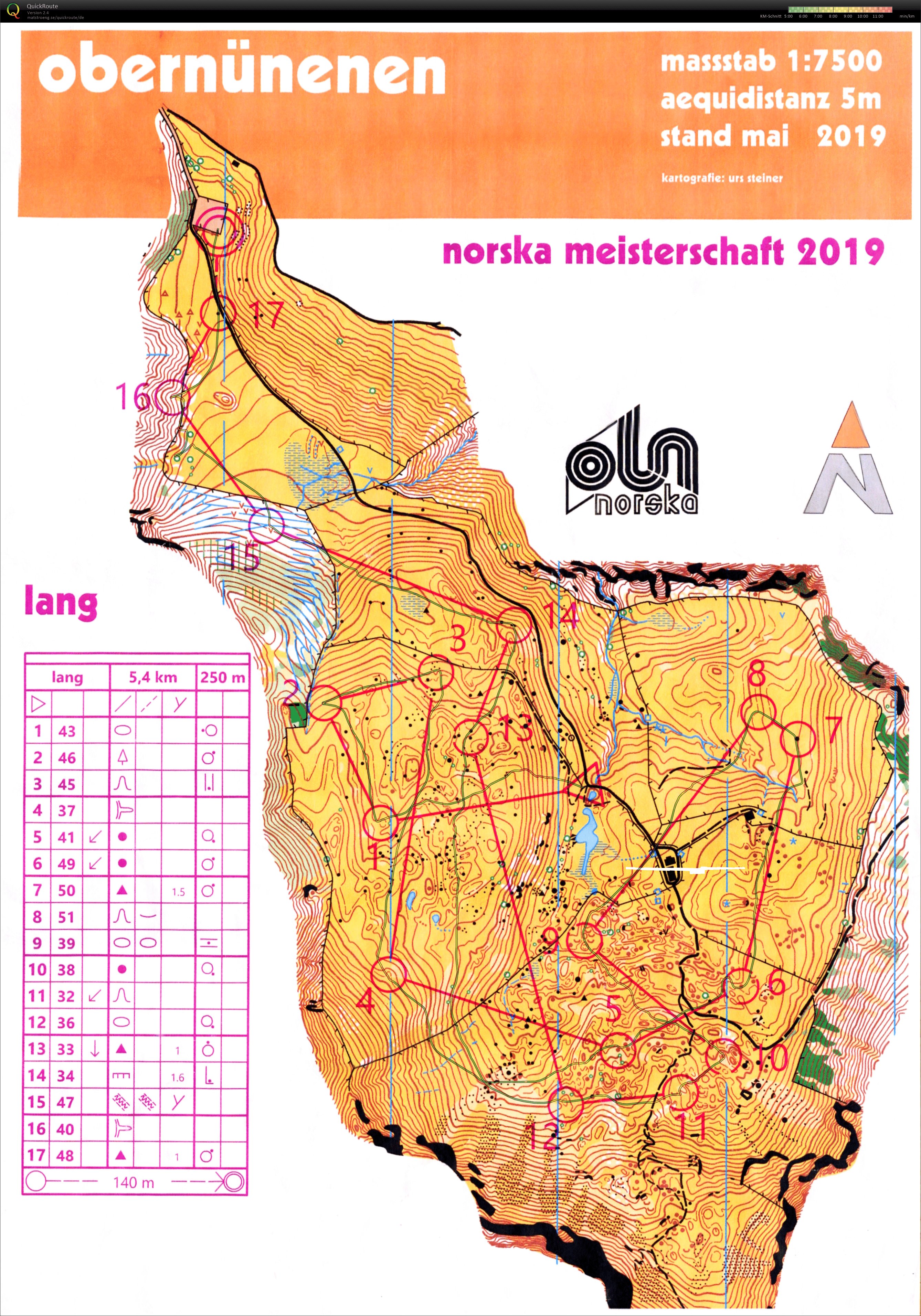Klubmeisterschaft auf der Nüenenalp (neue Karte von Urs Steiner)