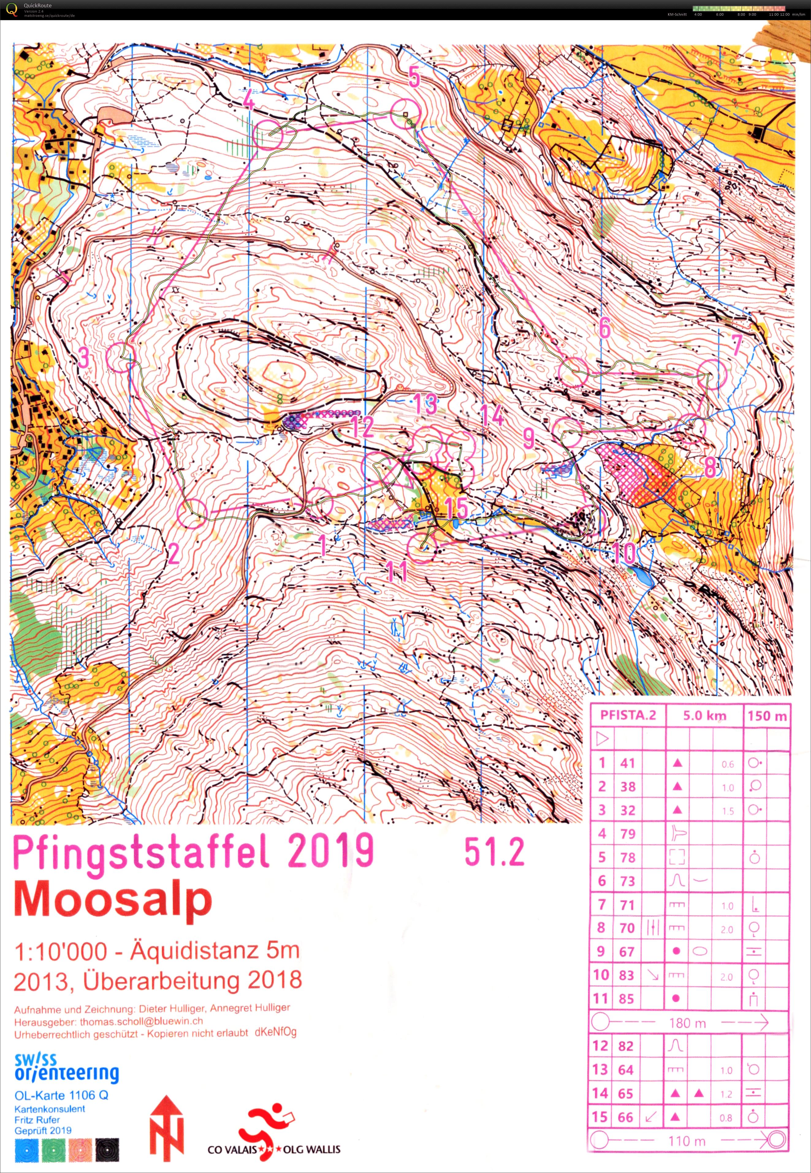Pfingststaffel 2019 - Norska Führung nach 2 Strecken in der Nacht.